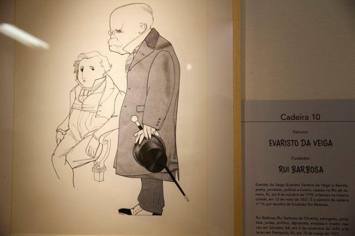 Rio de Janeiro - Exposição de caricaturas Patronos e Fundadores – 120 anos da Academia Brasileira de Letras, composta de 40 obras do artista Cássio Loredano (Fernando Frazão/Agência Brasil).