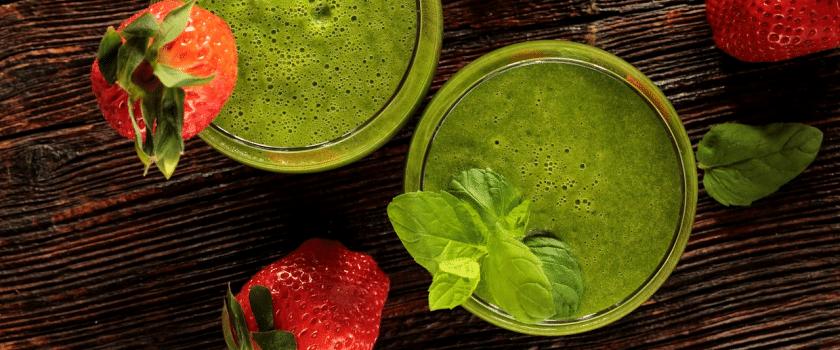 Grüne Detox Diät Shakes