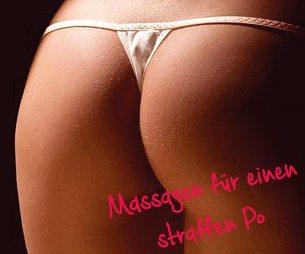Massagen gegen Schwangerschaftsstreifen am Po