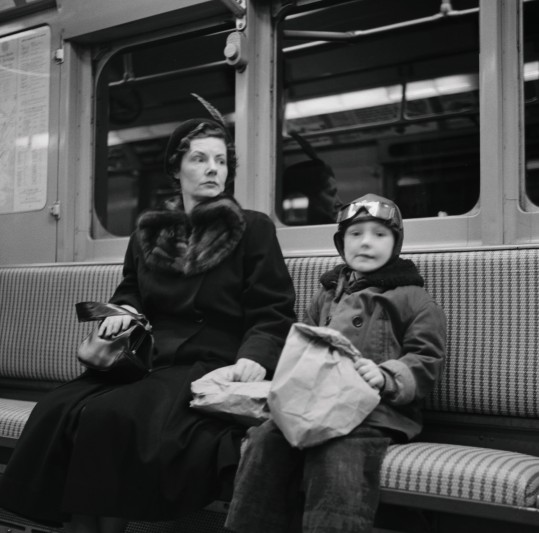Subway Mom 1947 © Martin Elkort
