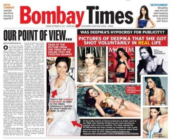 Is the Indecent Representation of Women Act not applicable to the Times of India?