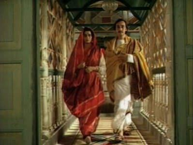 """The iconic scene where Bimala transgresses the """"home"""" into the """"world"""" with Nikhil"""