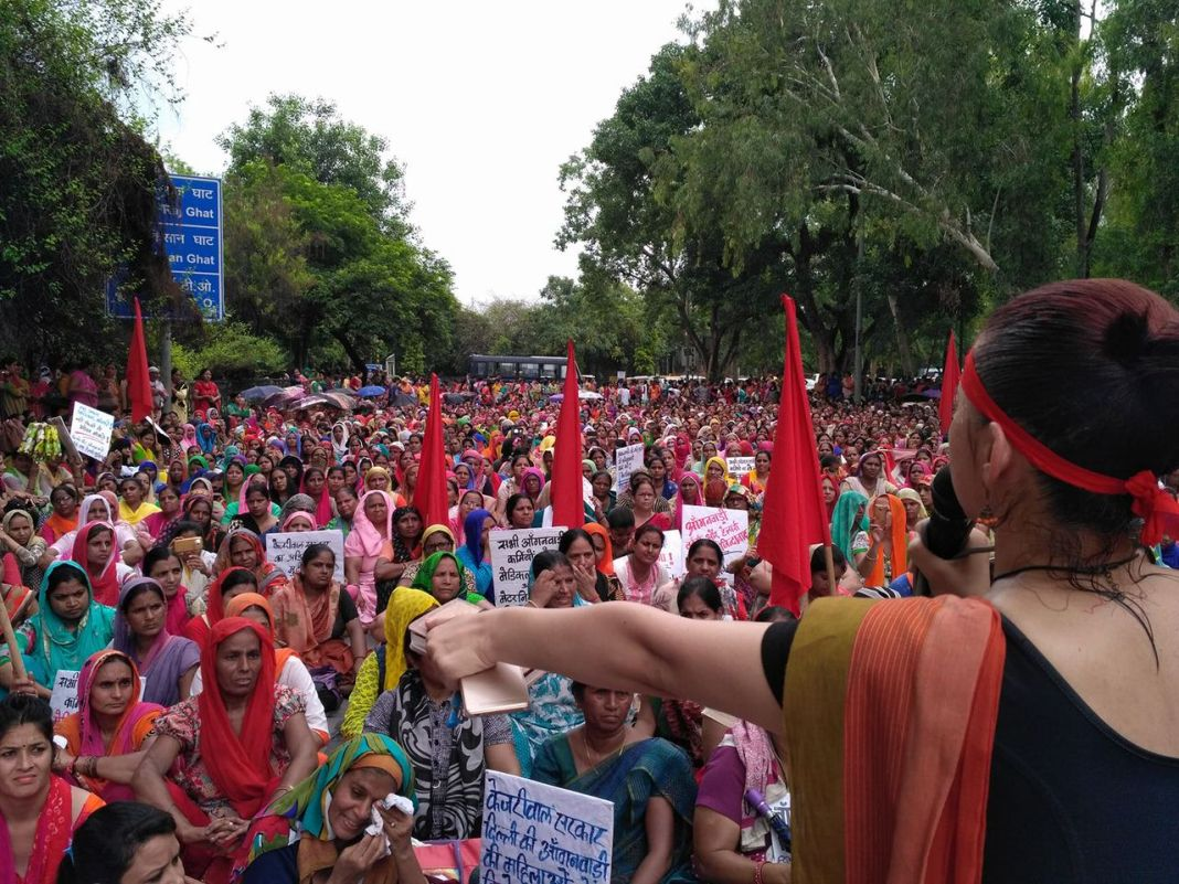 Anganwadi Workers Protest Against Abysmal Wages   Feminism in India