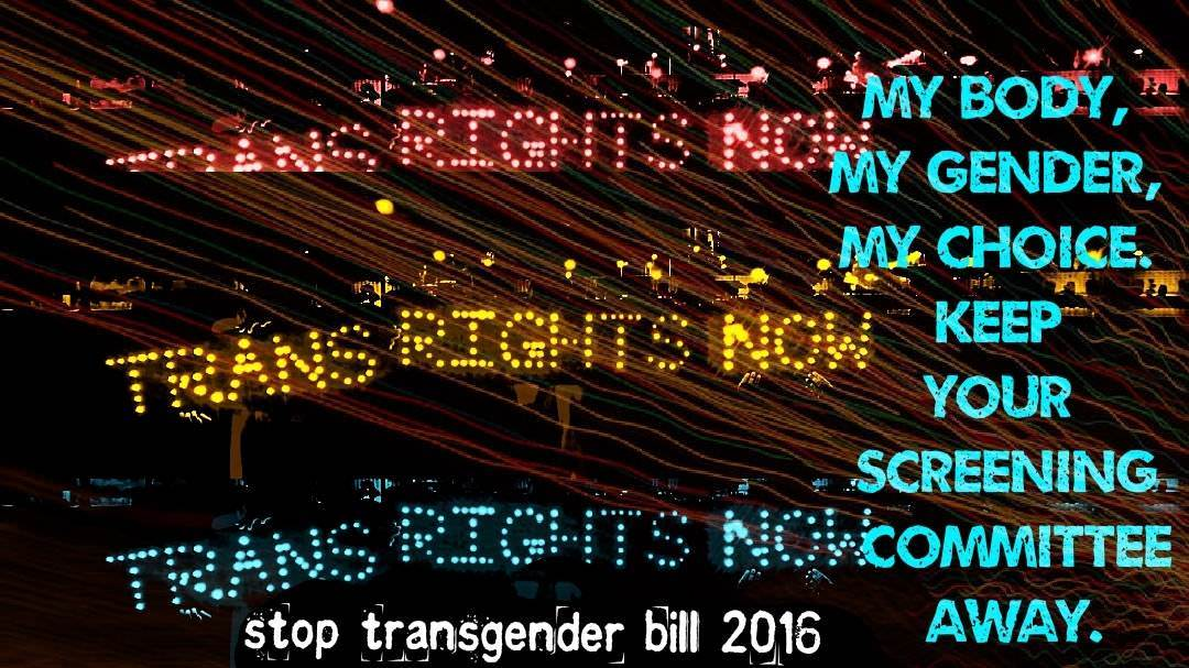 Joint Statement By Trans* Community Against The Transgender Bill