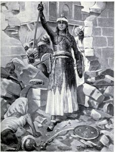 Princess Chand Bibi defends Ahmadnagar 1595. Image Source: Wikimedia Commons