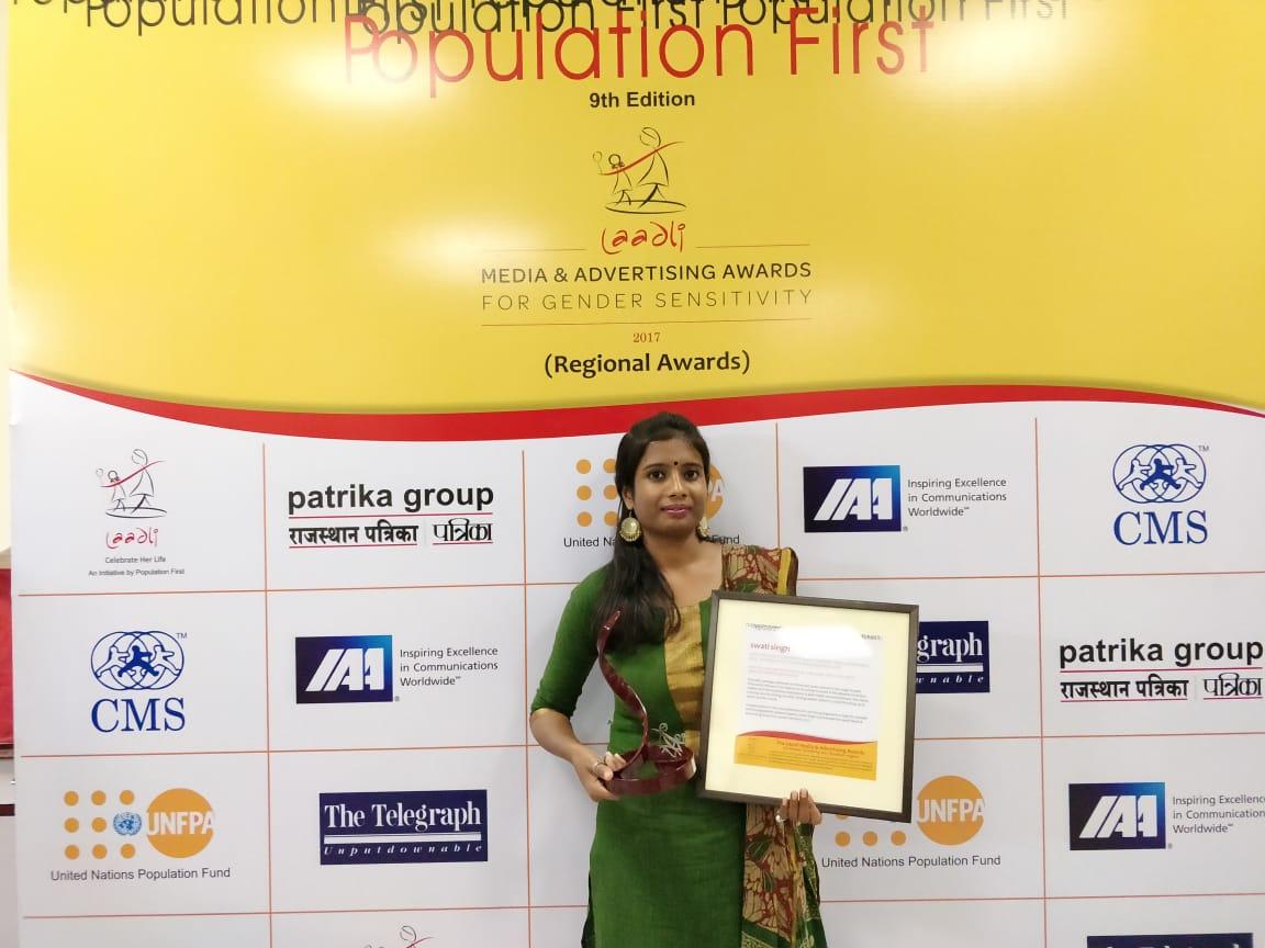 FII's Hindi Editor Swati Singh Wins Laadli Media Award 2018