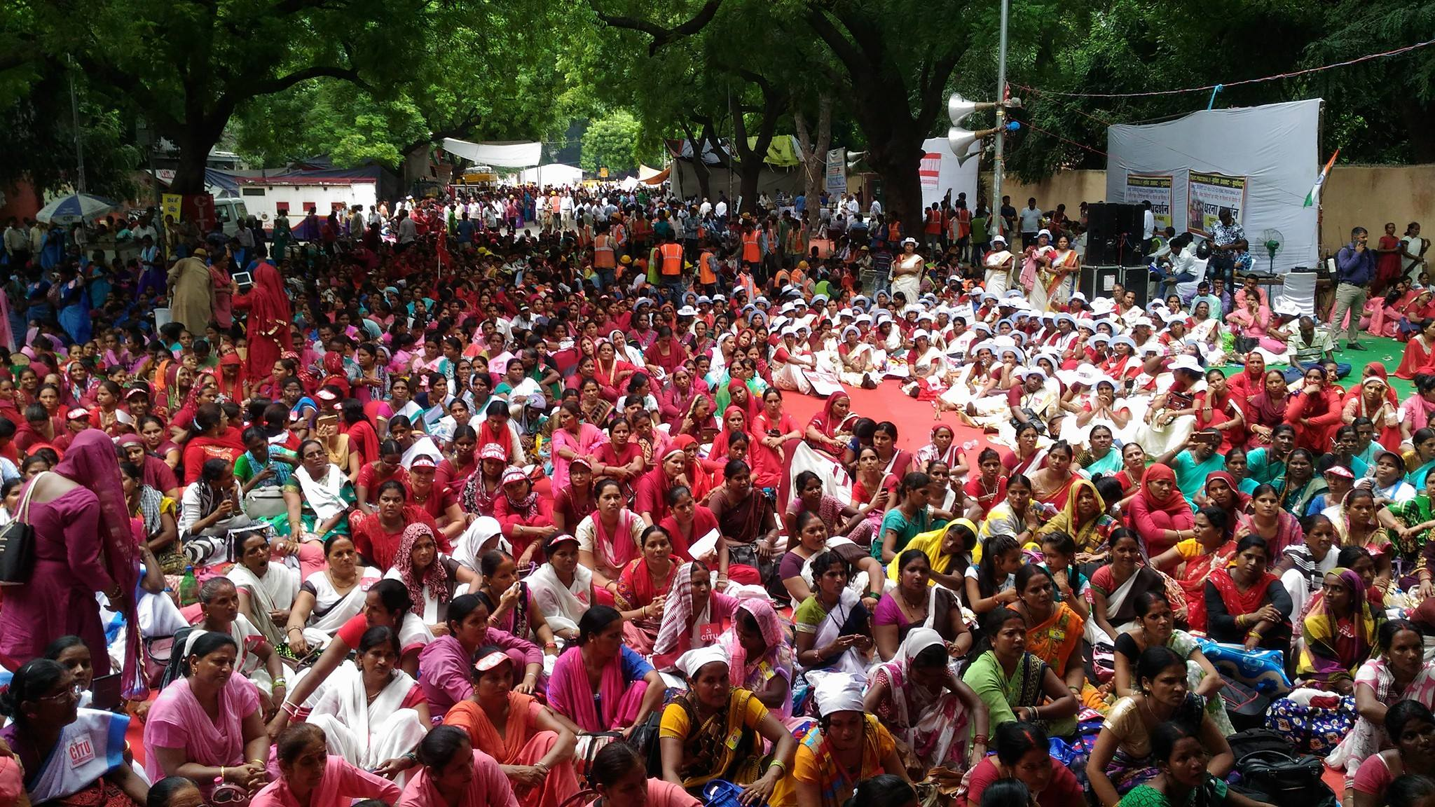 Female ASHA Workers Rally Demanding Better Wages And Working Conditions