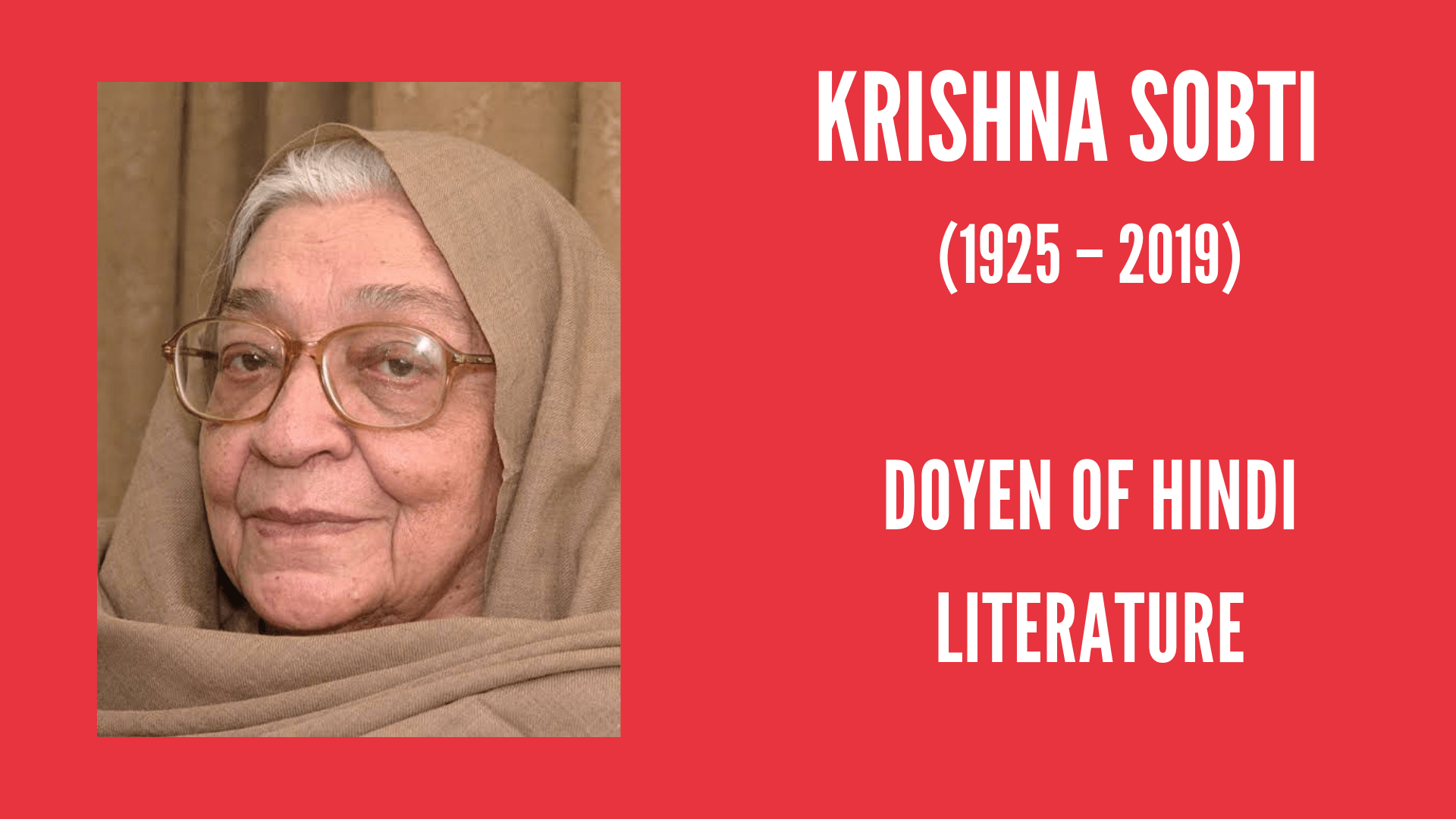 Krishna Sobti: Doyen of Hindi Literature | #IndianWomenInHistory