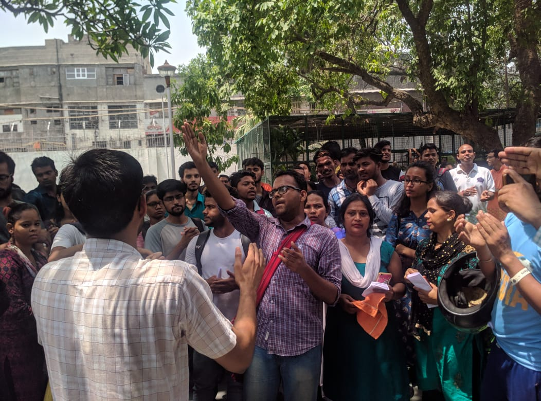 Ambedkar University Students Protest Unfair Dismissal Of Campus Sanitation Workers