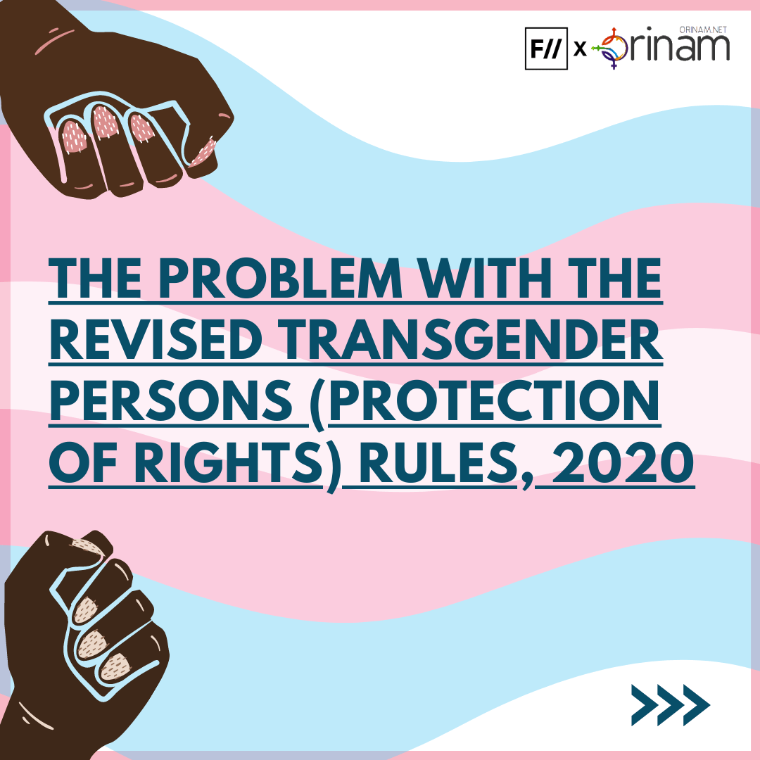 In Posters: The Problem With The Revised Draft Trans Act Rules, 2020