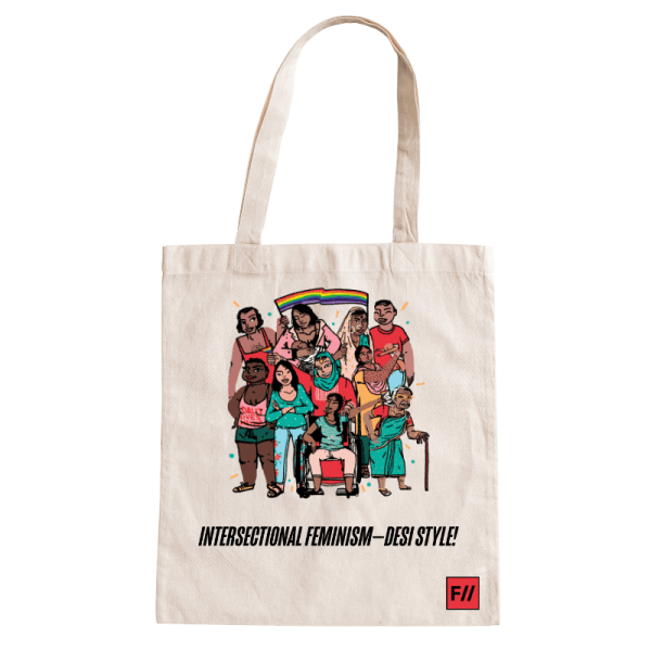 Intersectional Feminism—Desi Style! Tote Bag