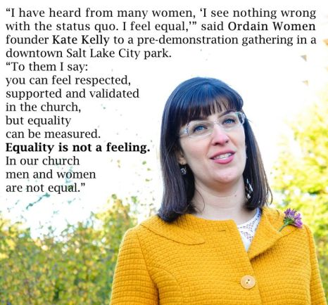 Equality Is Not a Feeling