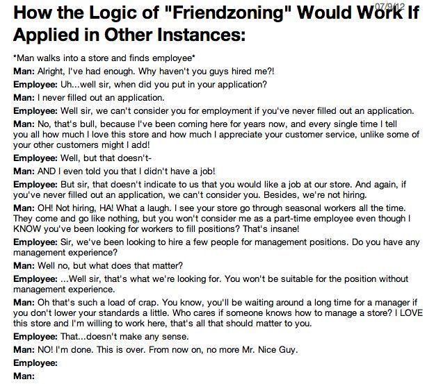 Logic of Friendzoning
