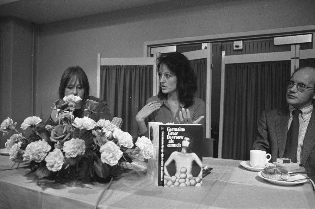 Germaine Greer en haar boek 'de vrouw als eunuch'
