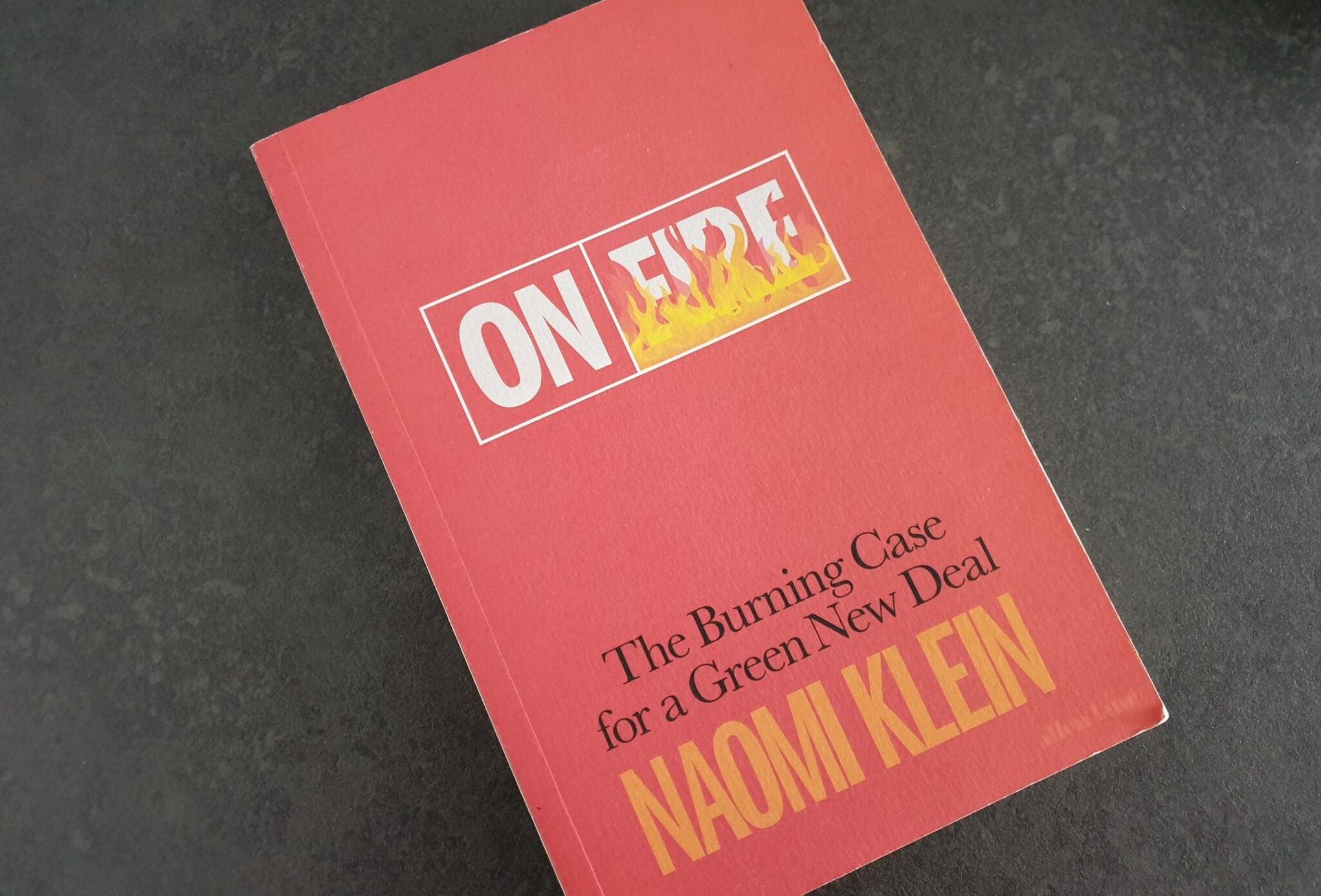 Bookcover; On Fire - Naomi Klein