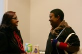 Networking in the corridors (Rashmi Patel & Maxine Beneba Clarke)