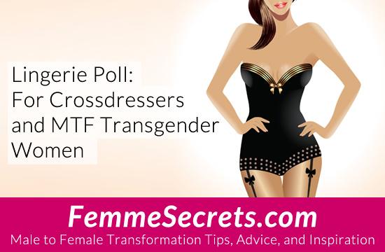 crossdressing transgender lingerie poll
