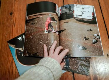 magazine we see open pages