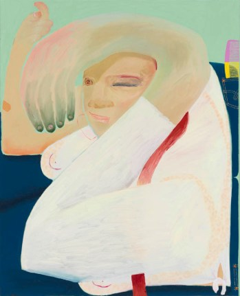 Celeste Rapone. Flirt, 2018. Oil on Canvas. Image courtesy of Corbett vs. Dempsey and the artist.