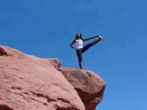 Althea doing yoga