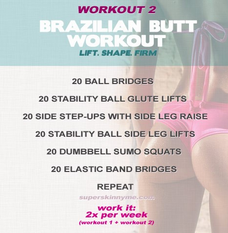 Brazilian Butt Workout - lift, shape, firm