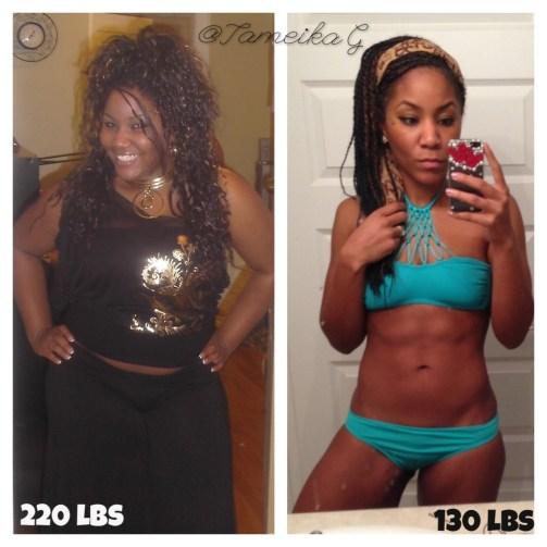 Tameika Gentles TameikaG #weightloss #beforeandafter