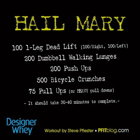 Hail Mary exercise challenge