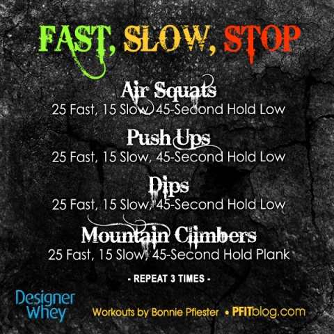 Fast, Slow and Stop challenge