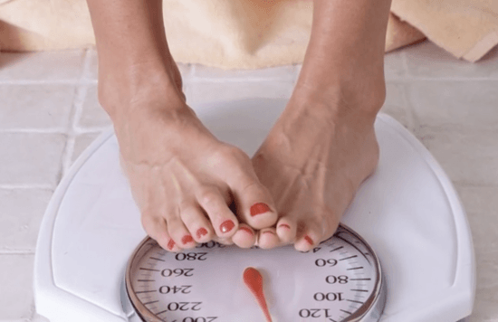 Standing on a body-weight scale #scale #nonscalevictory