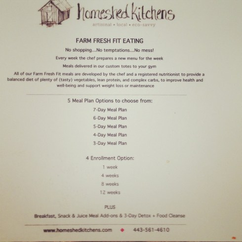 Homeshed Kitchens meal plans
