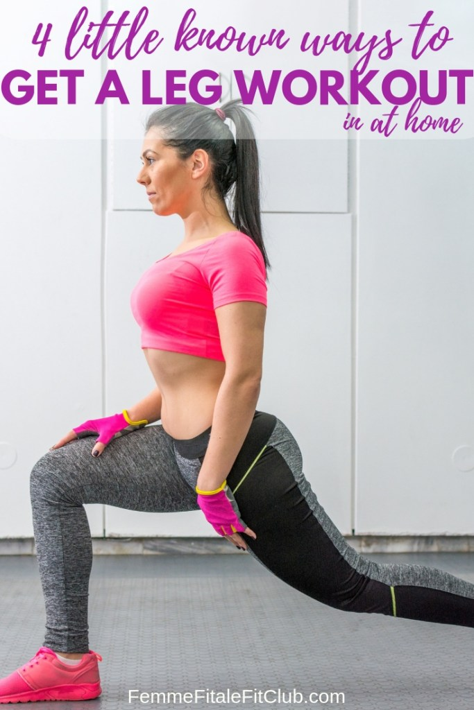 Check out these 4 leg exercises you can put together to get in a great leg workout at home #legworkout #legday #health #athomeworkouts #homeworkouts #glutes #thighs #hamstrings #fitness #workout #exercise #fitnesstips #weightlosstips
