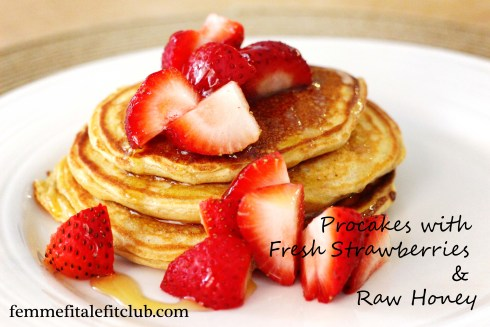 Procakes with Strawberries and Honey 2
