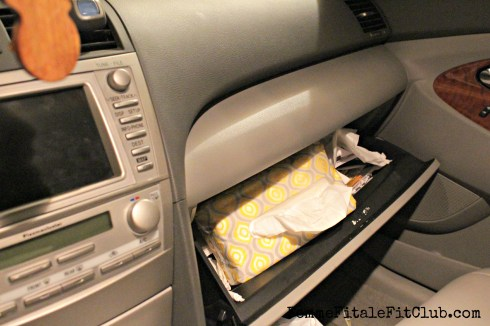 Puffs in Glove Compartment