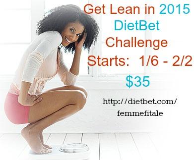 Get Lean in 2015 Challenge #dietbet #weightlosschallenge