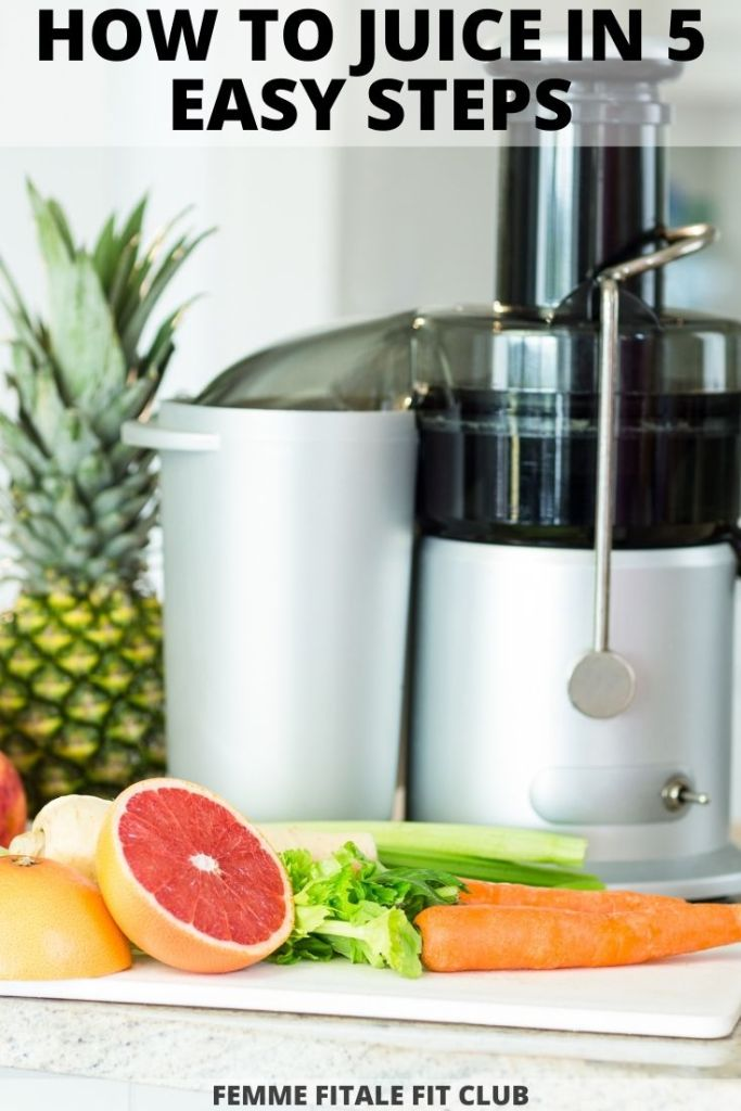 If you are interested in making your own fresh vegetable and fruit juice here's how to juice in 5 easy to follow steps.  #juicing #omegavrt #juicer #juice #organicjuice #vegan