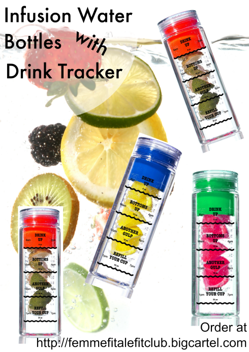 Infusion Water Bottle with Drink Tracker poster