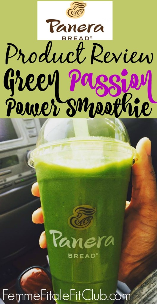 Panera Bread Green Passion Power Smoothie banner