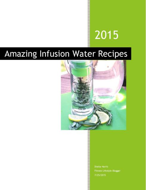 Amazing Water Infusion Recipes cover