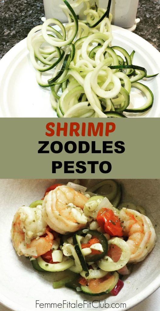 Shrimp Zoodles Pesto #pesto #zucchininoodles #zoodles #shrimp #seafoodpesto #seafood #lowcarb #keto #ketogenic #ketodiet #ketoqueen #ketogenicdiet #ketorecipe