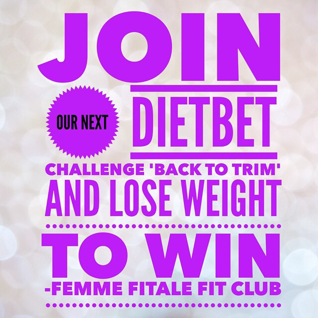 Back To Trim DietBet Challenge
