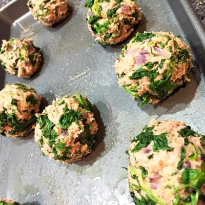 Raw Turkey Spinach Meatballs