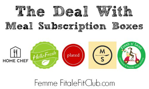 The Deal With Meal Subscription Boxes