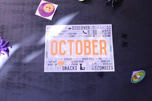 October Snack Sack Card