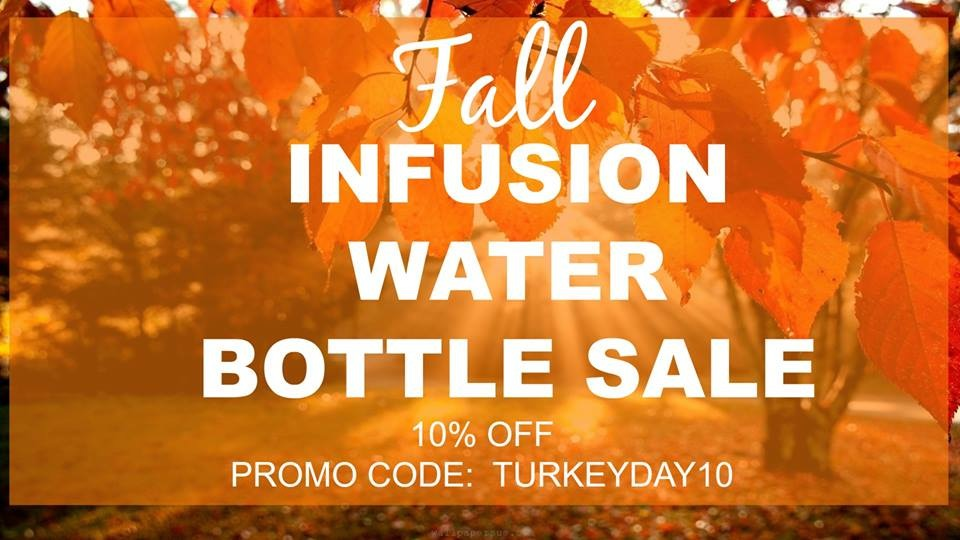 Fall Infusion Water Bottle with Drink Tracker Sale