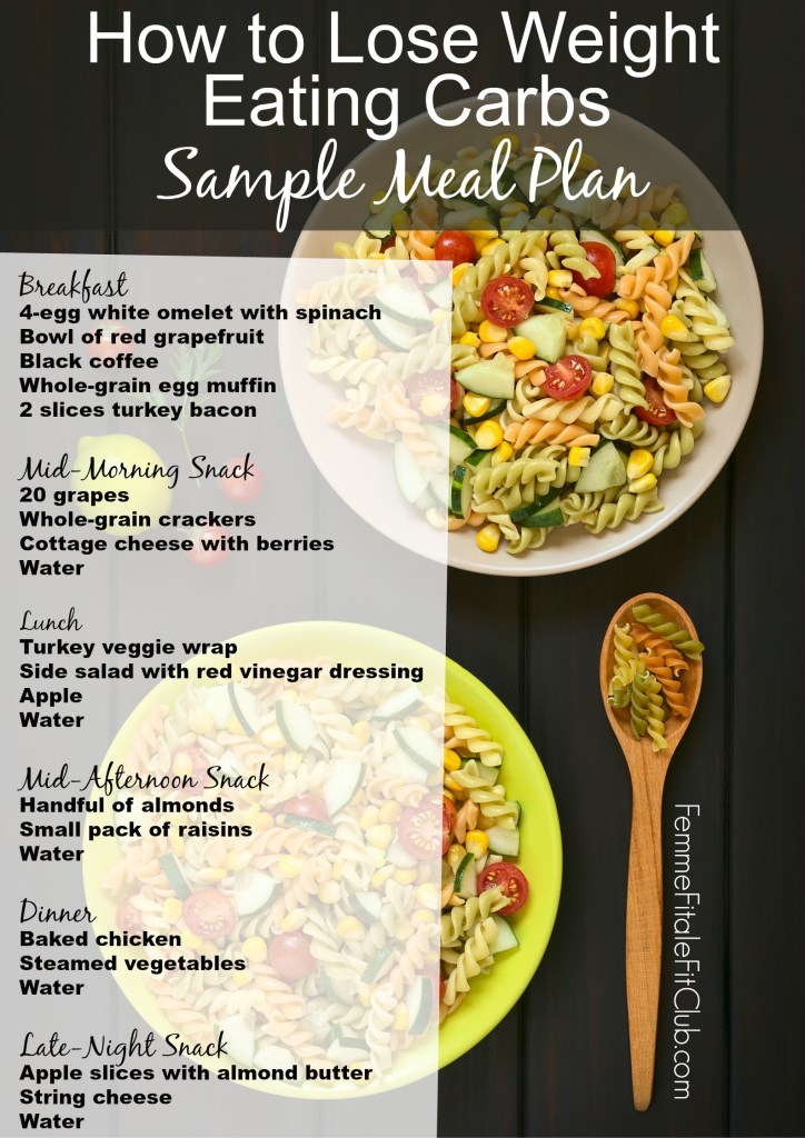 How to Lose Weight Eating Carbs sample meal plan