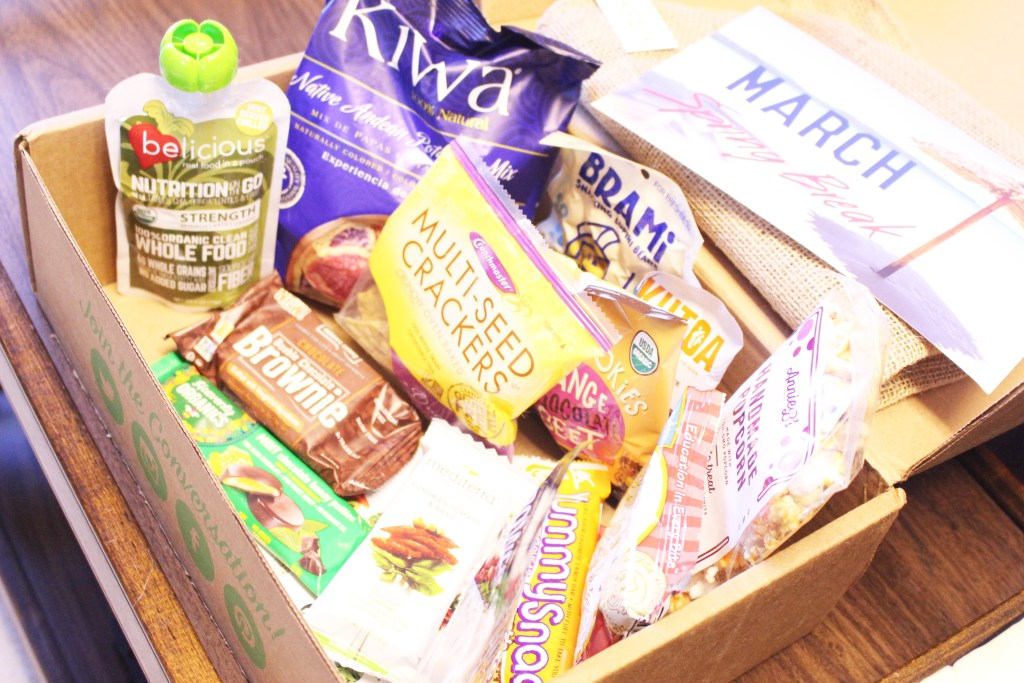 March Snack Sack Box side