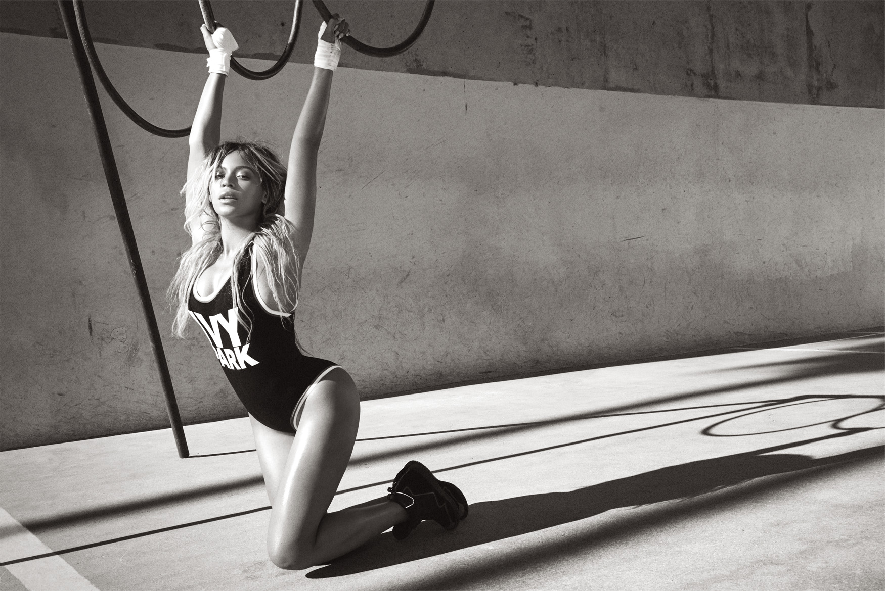 Beyonce Ivy Park with hoops