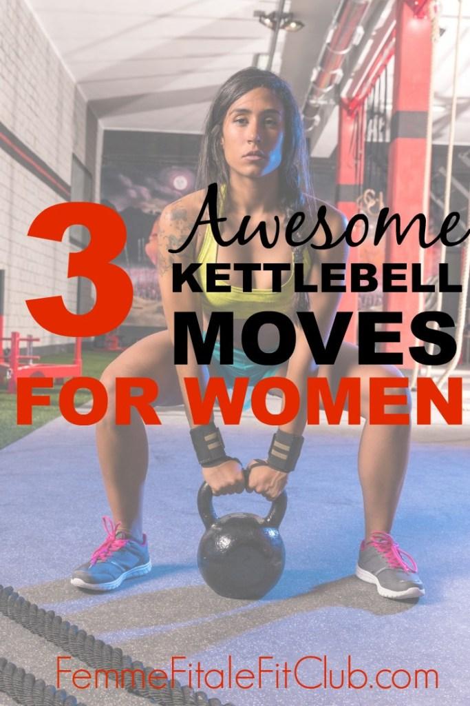 3 awesome kettlebell moves for women #kettlebellworkout #kettlebell #kettlebells #weightloss