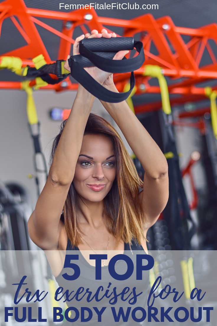 Top 5 TRX Exercises for a full body workout #TRX #trxworkout #trxexercise #trxexercises #upperbodyworkout #lowerbodyworkout #fitness #workout #weightlossforwomen (3)