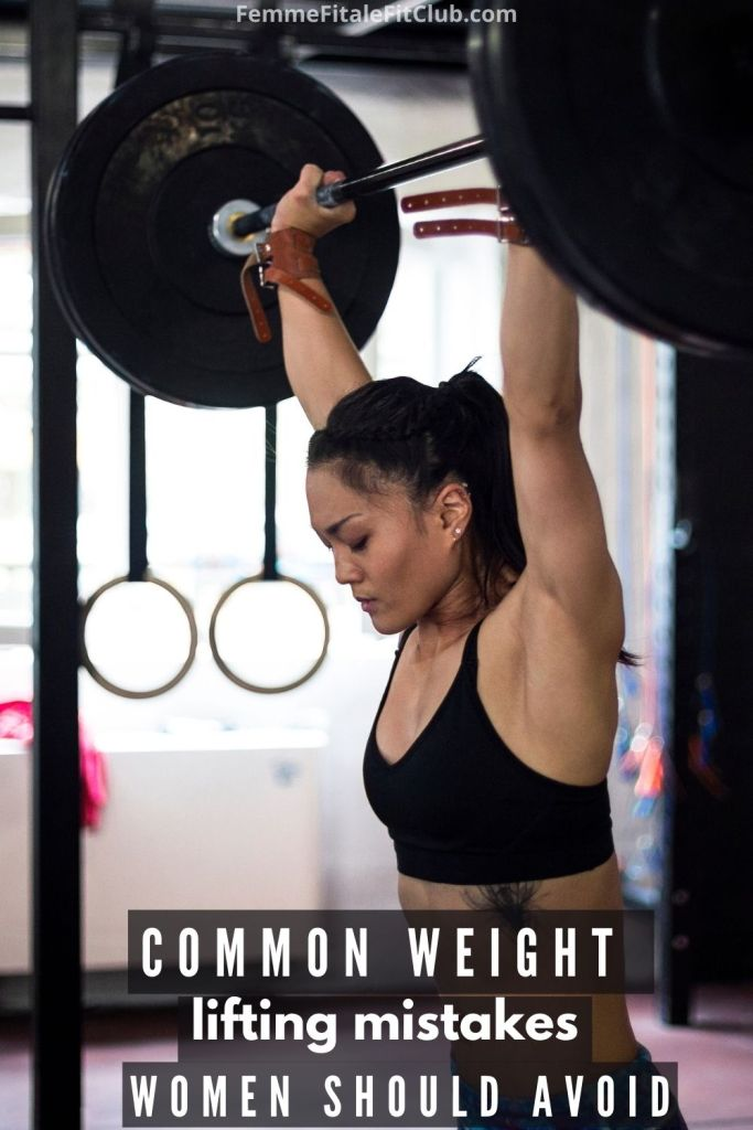 Avoid these common weight lifting mistakes women make.  #bodybuilding #bikinibodybuilding #fitness #health #healthy